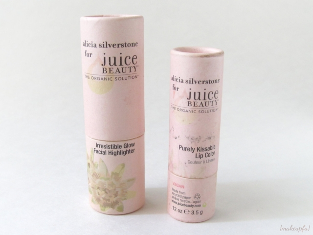 Alicia Silverstone for Juice Beauty Irresistible Glow Facial Highlighter and Purely Kissable Lip Color