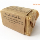 Side of the Bare Bare Naturals Pumpkin Black Tea Soap