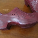 Side view of the Dansko Pixie in Claret