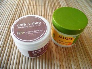 DressGreen Café & Shea Nourishing Facial Butter vs Alba Botanica Hawaiian Moisture Cream
