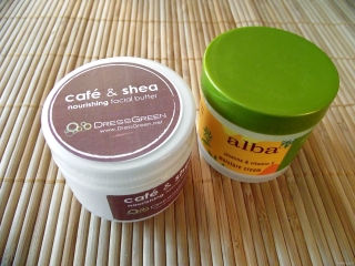 DressGreen Café & Shea Nourishing Facial Butter vs Alba Botanica Hawaiian Moisture Cream