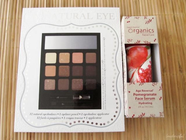 e.l.f. LE Holiday Beauty Book: Natural Eye (Winter 2012) and Desert Essence Organics Age Reversal Pomegranate Face Serum