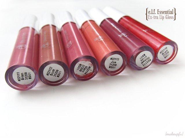 e.l.f. Essential Ex-tra Lip Gloss in Brian, Scott, Marc, Joe, Michael, and Brett