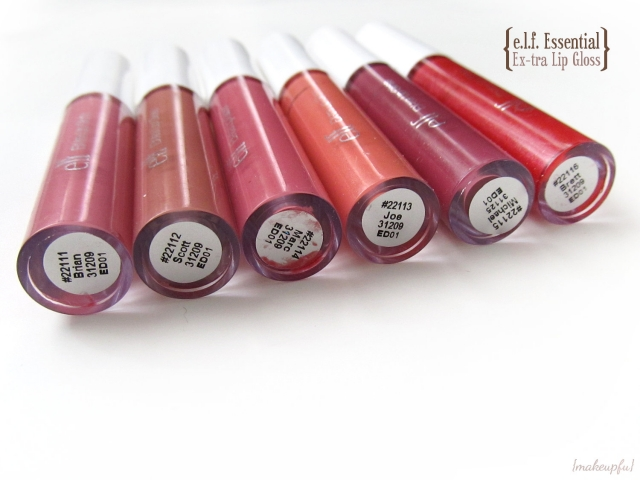 e.l.f. Essential Ex-tra Lip Gloss in Brian, Scott, Marc, Joe, Michael, and Brett