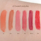 Swatches of the e.l.f. Essential Ex-tra Lip Gloss in Joe, Scott, Brian, Marc, Michael, and Brett