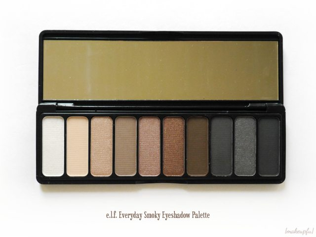 Closeup of the e.l.f. Everyday Smoky Eyeshadow Palette