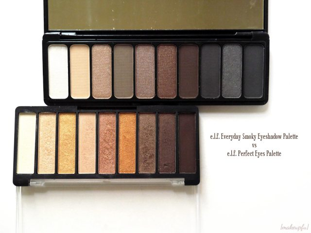 e.l.f. Everyday Smoky Eyeshadow Palette vs e.l.f. Perfect Eyes Palette