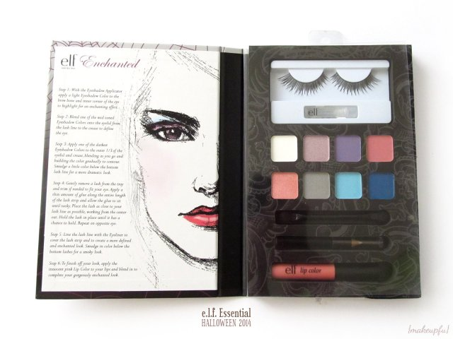 Inside of the e.l.f. Halloween 2014 Enchanted Beauty Book