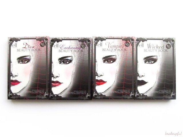 e.l.f. Limited Edition Halloween 2014 Beauty Books in Diva, Enchanted, Vampire & Wicked