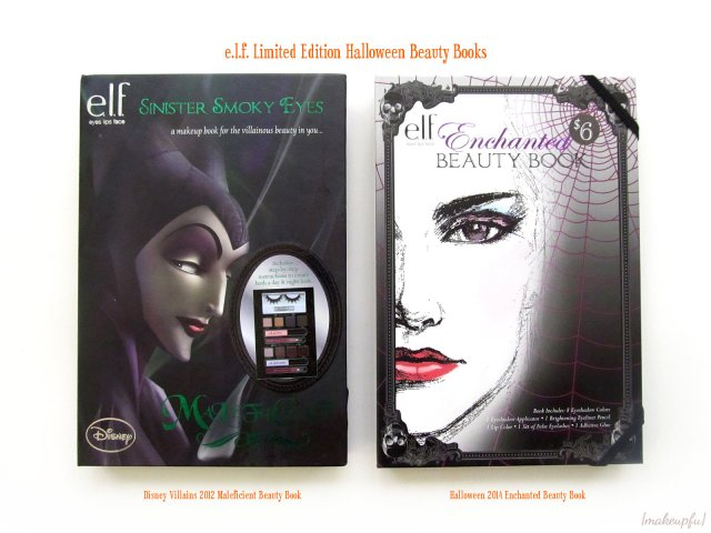 e.l.f. Limited Edition Halloween Beauty Books: Disney Villains 2012 Maleficient Beauty Book & Halloween 2014 Enchanted Beauty Book [Covers]
