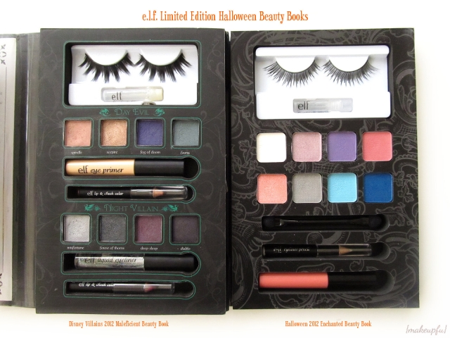 e.l.f. Limited Edition Halloween Beauty Books: Disney Villains 2012 Maleficient Beauty Book & Halloween 2014 Enchanted Beauty Book [Inside]
