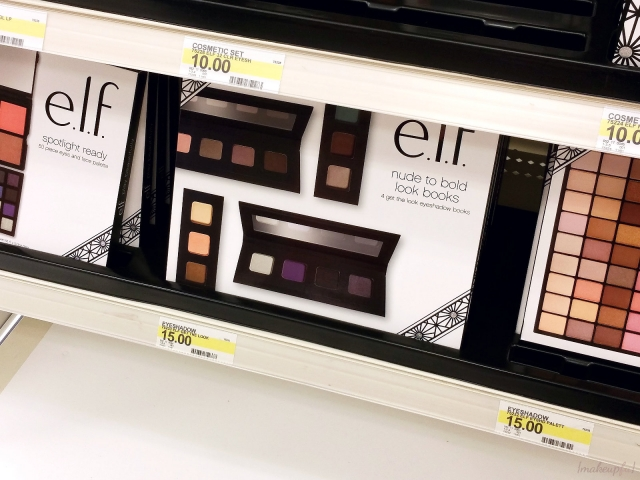 e.l.f. Holiday 2015 Nude to Bold Look Books collection at Target
