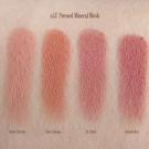 Swatches of e.l.f. Mineral Pressed Mineral Blush: Sweet Retreat, Cabo Cabana, Jet Setter, Wanderlust