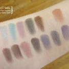 Swatches of the e.l.f. Studio 32-Pan Geometric Eyeshadow Palette
