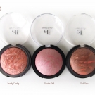 e.l.f. Studio Baked Blush in Peachy Cheeky, Passion Pink and Rich Rose