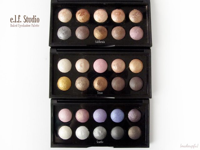 e.l.f. Studio Baked Eyeshadow Palettes in California, Texas and Seattle