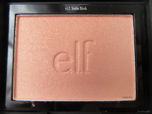 Closeup of e.l.f. Studio Blush in Twinkle Pink