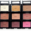 e.l.f. Studio Blush in Gotta Glow, Giddy Gold, Peachy Keen, Candid Coral, Twinkle Pink, Tickled Pink, Mellow Mauve, Berry Merry, and Pink Passion
