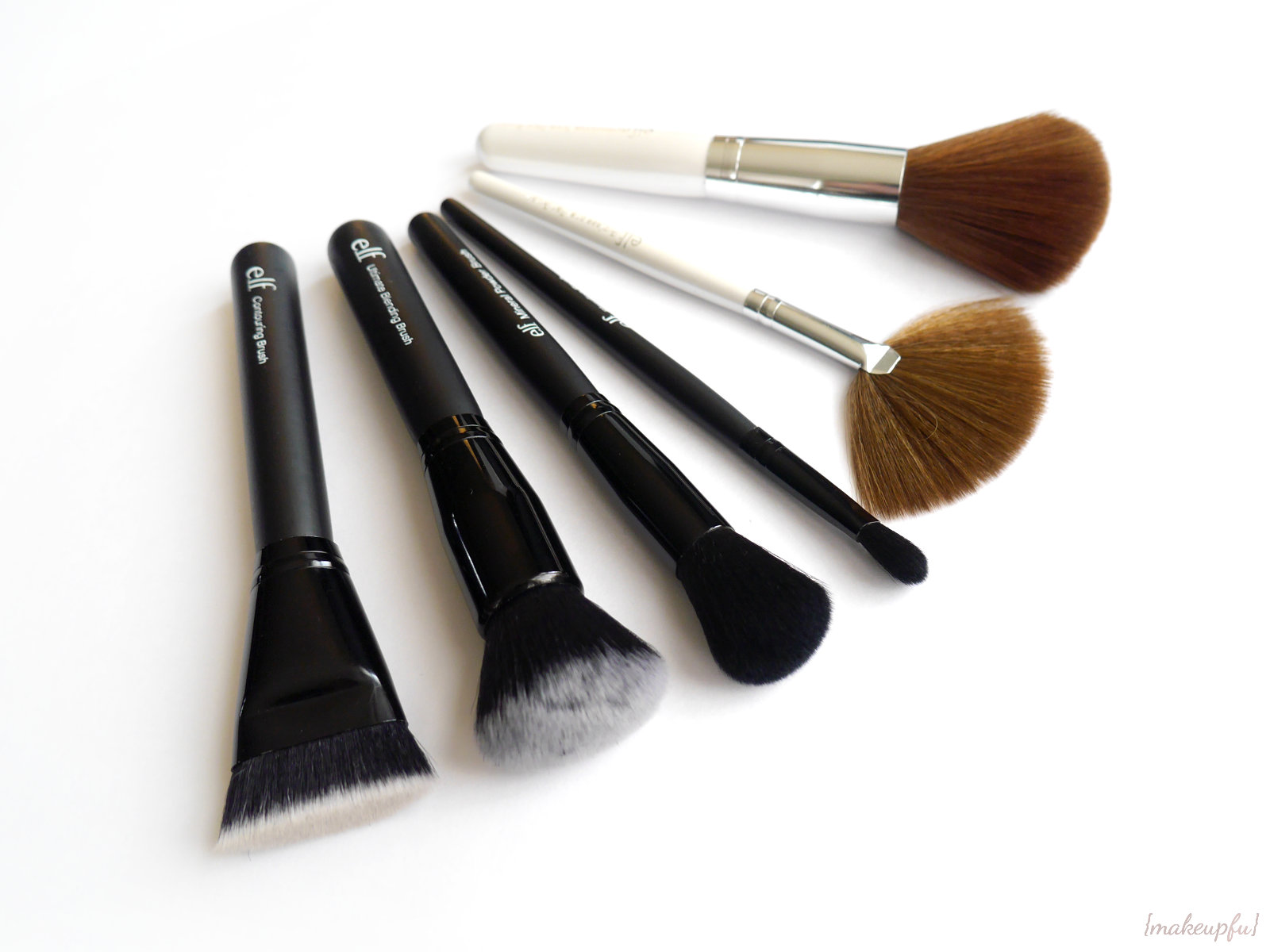 e.l.f. Studio Brushes (Contouring Brush, Ultimate Blending Brush, Mineral  Powder Brush, Blending