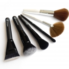e.l.f. Studio Brushes (Contouring Brush, Ultimate Blending Brush, Mineral Powder Brush, Blending Brush) and Essential Brushes (Fan Brush, Total Face Brush)