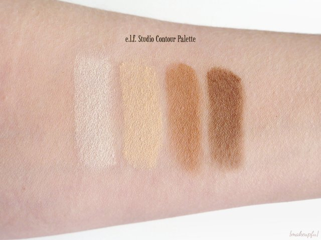 Swatches of the e.l.f. Studio Contour Palette