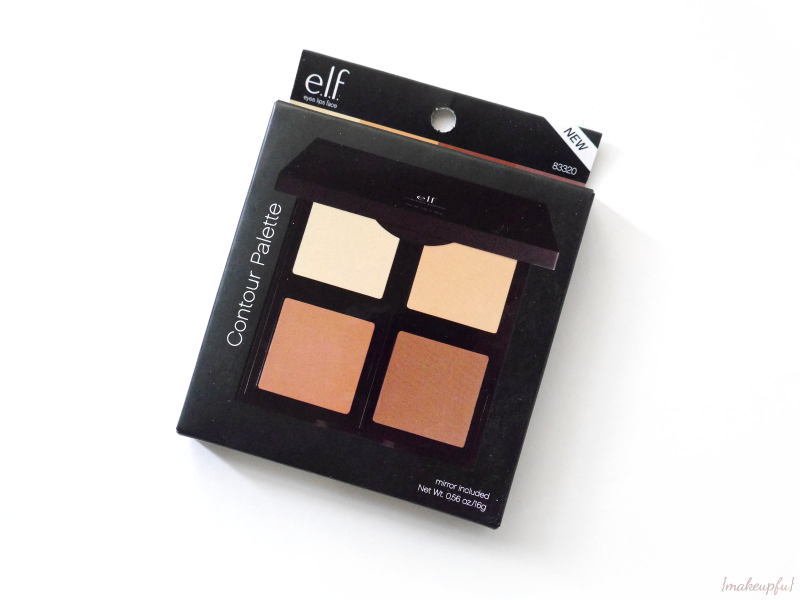 Front Of The Box Packaging For The Elf Studio Contour Palette