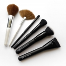 e.l.f. Brushes: e.l.f Essential Total Face Brush & Fan Brush; e.l.f. Studio Blending Brush, Mineral Powder Brush, Ultimate Blending Brush, and Contouring Brush