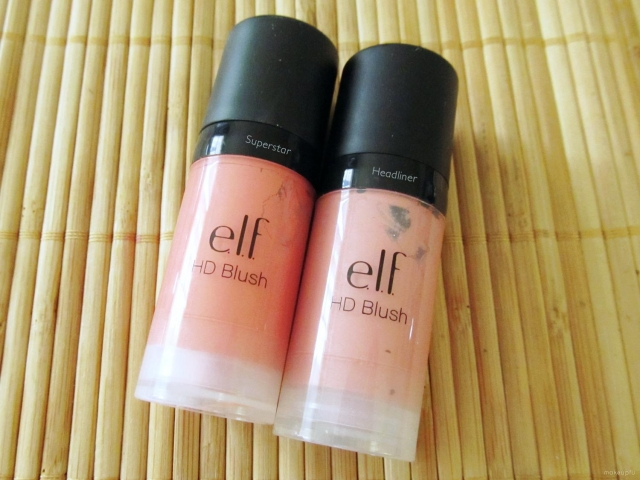 e.l.f. Studio HD Blush in Headliner and Superstar