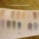 Swatches of the e.l.f. Studio Holiday 47 Piece Total Face Clutch