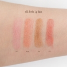 Swatches of the e.l.f. Studio Lip Balm in Pink, Peach, Nude, and Rose
