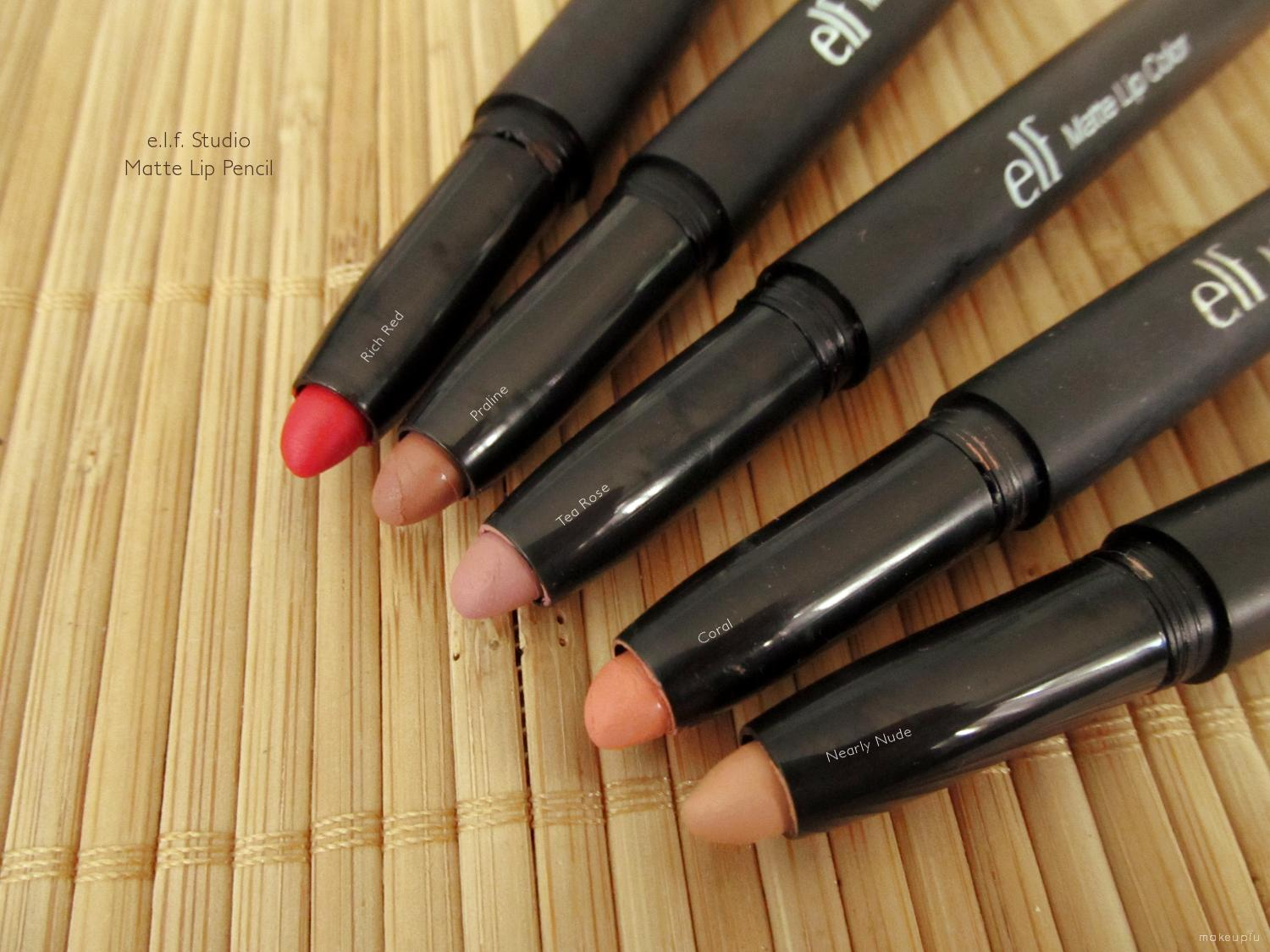 E L F Studio Matte Lip Color Review Makeupfu
