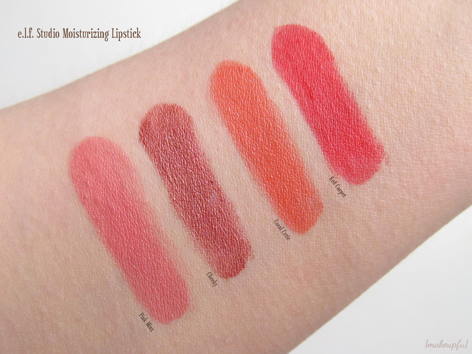 e.l.f. Studio Moisturizing Lipsticks |