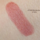 Swatches of e.l.f. Studio Moisturizing Lipstick in Cheeky