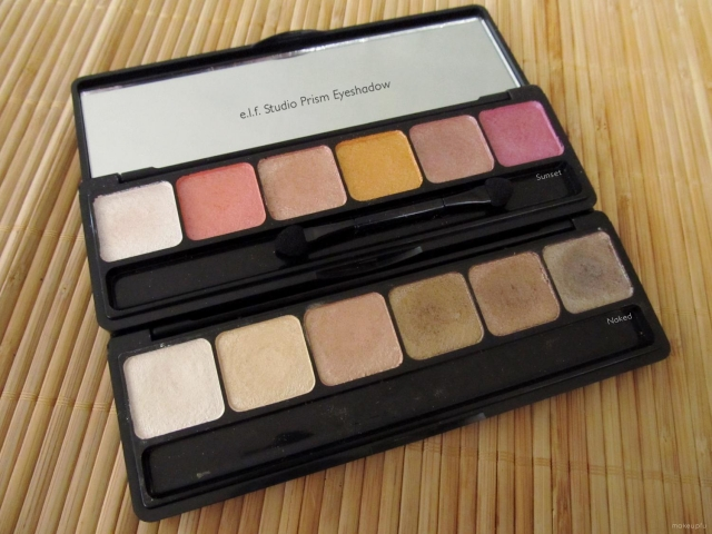 e.l.f. Studio Prism Eyeshadow in Sunset and Naked