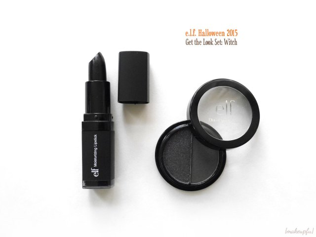 Essential Duo Eyeshadow & Studio Moisturizing Lipstick in Blackout of the e.l.f. Halloween 2015 Get the Look Set: Witch