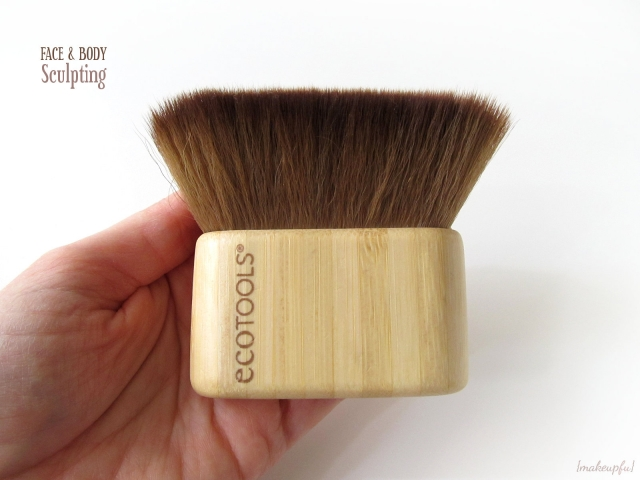 ecoTOOLS Face & Body Sculpting Brush size comparison with my hand.