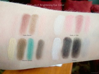 e.l.f. Brightening Eye Color in Matte Mauve, Pretty n' Pink, Natural Nymph, Drama