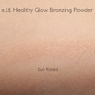 e.l.f. Healthy Glow Bronzing Powder Swatch in Sun Kissed