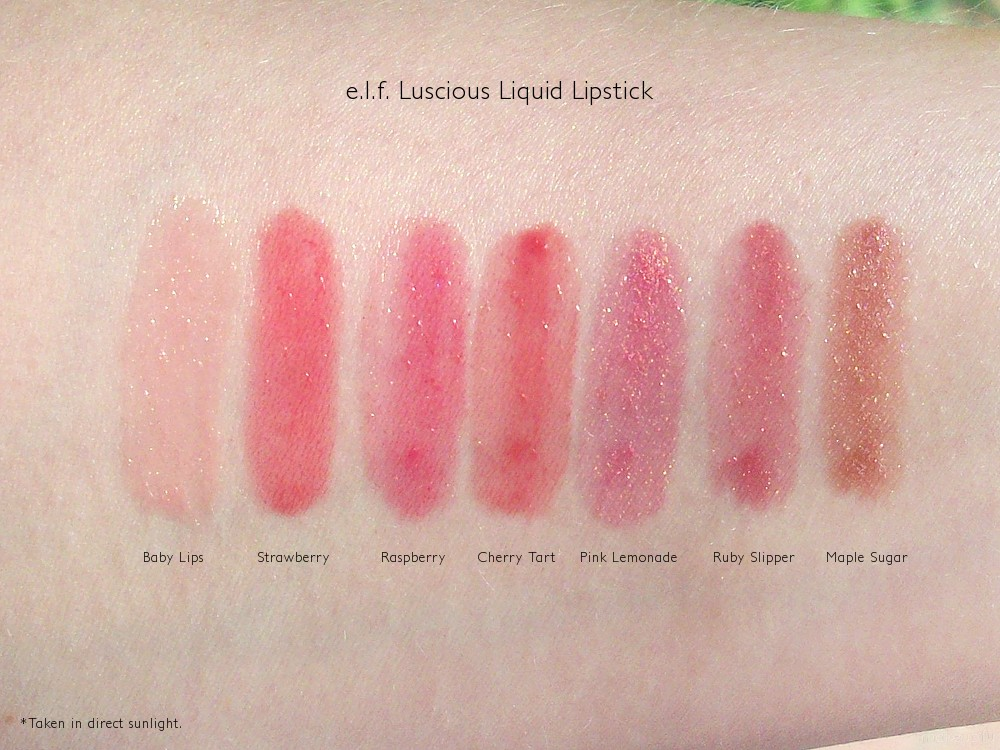 E L F Essential Luscious Liquid Lipstick Review
