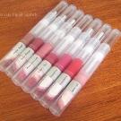 e.l.f. Luscious Lipstick: Baby Lips, Cherry Tart, Maple Sugar, Cherry Tart, Maple Sugar, Pink Lemonade, Raspberry, Ruby Slipper, Strawberry