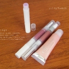 e.l.f. Essentials Lip Products: Therapeutic Lip Balm in <i>Blackberry</i>, Hypershine Gloss in <i>Sugar Plum</i>, Luscious Liquid Lipstick in <i>Brownie Points</i>, and Super Glossy Lip Shine in <i>Paradise Pink</i>