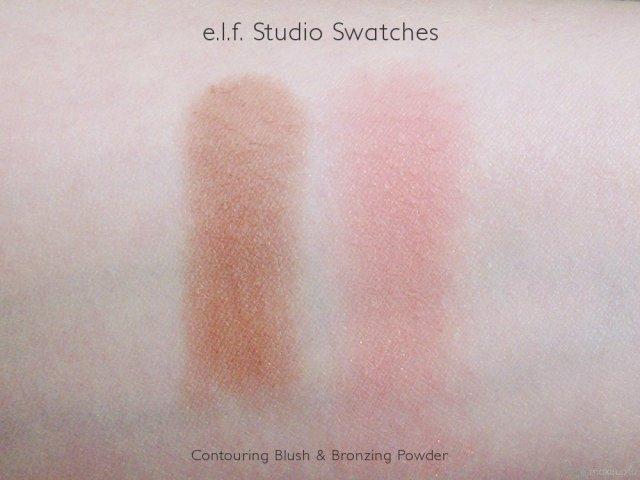 e.l.f. Studio Contouring Blush and Bronzing Powder Swatches