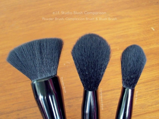 e.l.f. Studio Brush Comparison: Powder Brush, Complexion Brush and Blush Brush