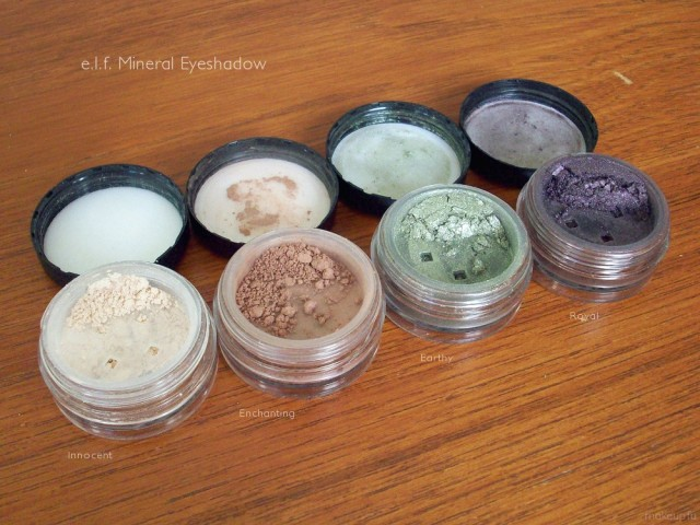 e.l.f. Mineral Eyeshadow: Innocent, Enchanting, Earthy, Royal