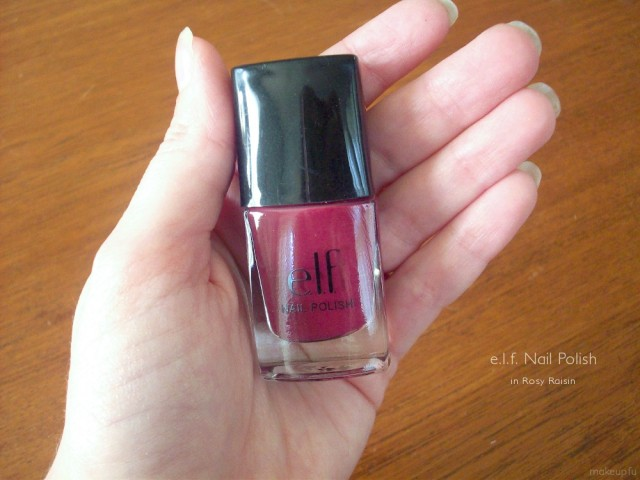 e.l.f. Nail Polish in Rosy Raisin