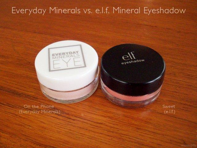 e.l.f. Mineral Eyeshadow vs. Everyday Minerals Eyeshadow