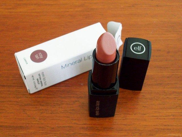 e.l.f. Mineral Lipstick in Rosy Tan