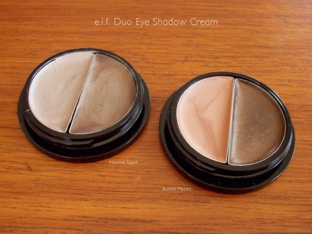 e.l.f. Duo Cream Eye Shadow: Mocha Swirl and Butter Pecan