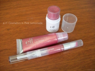e.l.f Essential Cosmetics in Pink Lemonade