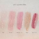 e.l.f. Essential Hypershine Gloss Swatches: Fairy, Blossom, New York City, Honey, and Sugar Plum